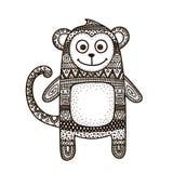 Vetor da garatuja do macaco Imagens de Stock