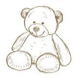 Vetor da garatuja do urso de peluche Fotografia de Stock Royalty Free