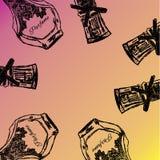 Vetor da garrafa de perfume Imagens de Stock
