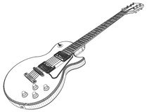 Vetor da guitarra elétrica Fotografia de Stock Royalty Free