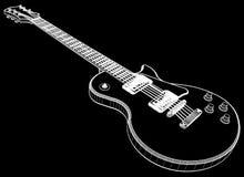 Vetor da guitarra elétrica Foto de Stock