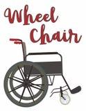 Vetor da ilustração da cadeira de roda na vista lateral ilustração do vetor