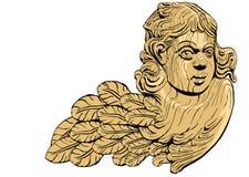 Vetor da ilustração do anjo Fotografia de Stock Royalty Free