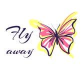 Vetor da ilustração do esboço da borboleta Foto de Stock Royalty Free