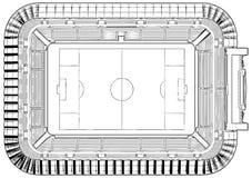 Vetor da ilustração do estádio de futebol do futebol Imagem de Stock Royalty Free