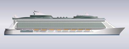 Vetor da ilustração do navio de cruzeiros Fotografia de Stock Royalty Free