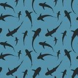 Vetor da ilustração do teste padrão do tubarão ilustração royalty free