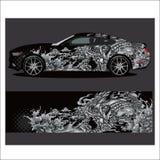 Vetor da libré do carro explosão abstrata com grunge ilustração stock