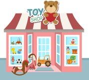 Vetor da loja do brinquedo Fotografia de Stock Royalty Free