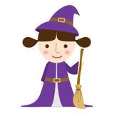Vetor da menina da bruxa de Dia das Bruxas Foto de Stock Royalty Free