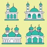 Vetor da mesquita Imagens de Stock Royalty Free
