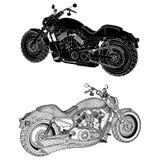 Vetor da motocicleta Imagens de Stock