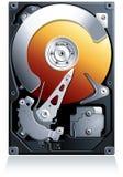 Vetor da movimentação de disco rígido HDD Fotos de Stock Royalty Free