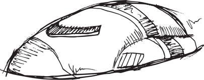 Vetor da nave espacial da garatuja ilustração stock