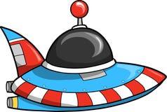 Vetor da nave espacial do UFO ilustração stock