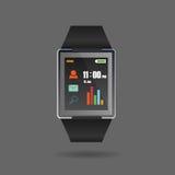 Vetor da nova tecnologia de Smartwatch Fotografia de Stock