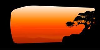 Vetor da nuvem da árvore e do fundo bonitos dos céus Imagem de Stock Royalty Free