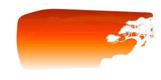 Vetor da nuvem da árvore e do fundo bonitos dos céus Fotografia de Stock