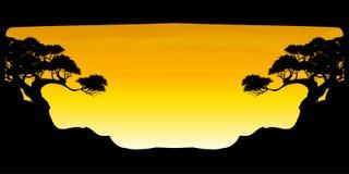 Vetor da nuvem da árvore e do fundo bonitos dos céus Fotos de Stock