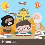 Vetor da ocupação do historiador ilustração do vetor