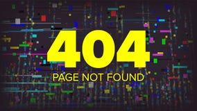 Vetor da página de 404 erros Projeto gráfico do página da web quebrado Ilustração do servidor da disposição da falha Fotos de Stock Royalty Free