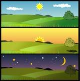 Vetor da paisagem da natureza Imagens de Stock Royalty Free