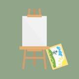 Vetor da placa da arte da armação isolado para algum artista com o artboard da lona do papel da paleta da pintura e faculdade cri ilustração royalty free