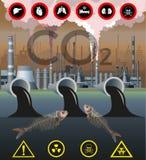 Vetor da poluição ambiental ilustração stock