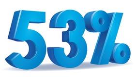 Vetor da porcentagem, 53 Fotografia de Stock Royalty Free