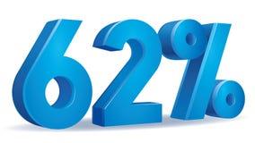Vetor da porcentagem, 62 Imagem de Stock