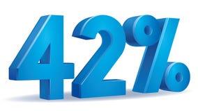 Vetor da porcentagem, 42 Fotografia de Stock Royalty Free