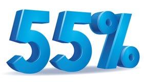 Vetor da porcentagem, 55 Fotografia de Stock