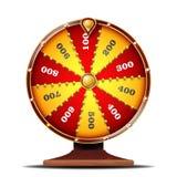 Vetor da roda da fortuna Sinal da sorte Lazer da possibilidade do jogo Isolado na ilustração branca do fundo ilustração stock
