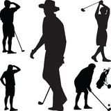 Vetor da silhueta do golfe Fotos de Stock
