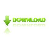 Vetor da tecla do Download ilustração stock