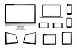 Vetor da tecnologia dos dispositivos dos meios Fotografia de Stock Royalty Free
