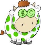 Vetor da vaca de dinheiro Imagem de Stock Royalty Free