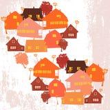 Vetor da vila ilustração royalty free