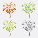 Vetor das árvores Imagem de Stock Royalty Free