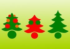 Vetor das árvores de Natal Fotos de Stock Royalty Free