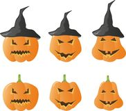 Vetor das abóboras de Halloween Fotografia de Stock Royalty Free
