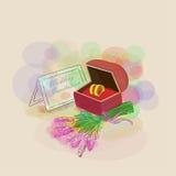 Vetor das alianças de casamento do ouro Imagem de Stock Royalty Free