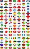 Vetor das bandeiras nacionais ilustração stock