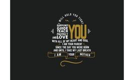 Vetor das citações da tipografia do amor imagem de stock royalty free