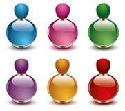 Vetor das garrafas de perfume ilustração royalty free