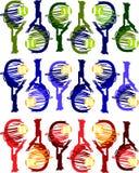 Vetor das imagens da raquete de tênis Fotografia de Stock Royalty Free
