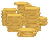 Vetor das moedas Foto de Stock Royalty Free