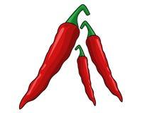Vetor das pimentas de pimentão vermelho Foto de Stock