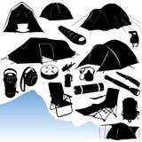 Vetor de acampamento Imagem de Stock