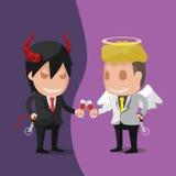 Vetor de Angel Devil Worker Business Man ilustração royalty free
